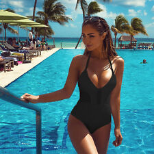 New Women One-Piece Swimsuit Summer Swimwear Padded Monokini Bikini Bandeau Y449