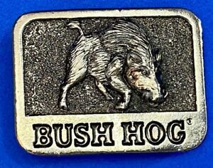 Vintage Bush Hog Husky Belt Buckle Razorback Pig by Allied Products