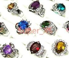30pcs wholesale crystal Zircon silver-plated ring free shipping woman jewelry