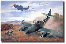 """""""Yeager's First Jet"""" by Roy Grinnell WW II signed by Capt. """"Chuck"""" Yeager"""
