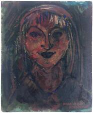Olga Klein Astrachan - Peinture à l'huile sur panneau bois