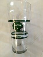 VINTAGE NEW YORK JETS BEER GLASS--COCA COLA--NFL--EUC