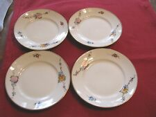 4 NIPPON BREAD PLATES - HAND PAINTED -  QUITE BEAUTIFUL - DELICATE FLOWERS