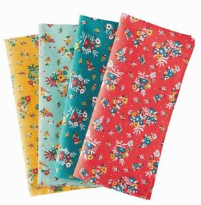 Pioneer Woman Rose Ditsy Cloth Napkins pack of 4 New w/tags