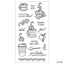 Coffee Time Clear Stamps For DIY Scrapbooking Decor Card Making Supplies Crafts