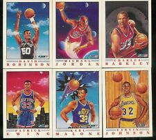 1991-92 FLEER PRO-VISIONS BASKETBALL COMPLETE INSERT SET 1-6
