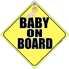 """ BABY ON BOARD "" LASER PRINTED SIGN FOR CAR WINDOWS"