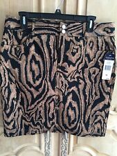 Chaps Animal Print Skirt Size 10 NWT