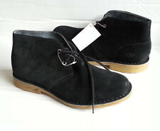 UGG Men Size 8.5 Chukka Boots Black Suede Leather EUR 41.5