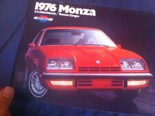 1976 Chevy Chevrolet Monza Color Brochure Catalog Prospekt