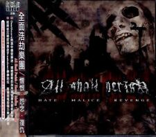 All shall perish: Hate Malice Revenge (2003) CD OBI TAIWAN