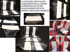 COPRISEDILI FIAT 500 EPOCA BICOLORE BIANCO NERO CUCITURE ROMBO SERIE COMPLETA