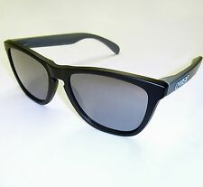 Oakley GP75 Frogskins Sunglasses-Matte Black w/Black Iridium Lens-Racing Edition