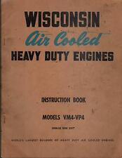 Wisconsin Air Cooled Heavy Duty Engines Vm4-Vp4 Operators Manual Mm 237 (412)