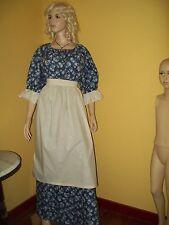 New Custom Adult Colonial Pioneer Prairie Civil War Dress Costume Apron