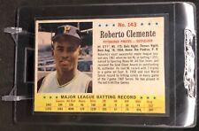1963 Post Baseball #143 Roberto Clemente Hand Cut