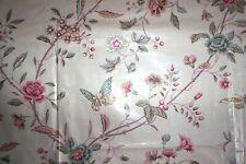 Warner vintage chintz fabric butterflies carnation 1978 - 3+ yards in 2 pieces