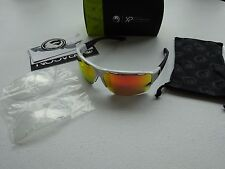 Dragon EnduroX White Black Red Ion + Clear Lenses Mountain Trail Sunglasses NIB