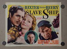 SLAVE SHIP ORIGINAL *TITLE CARD & 6 SCENE CARDS* MICKEY ROONEY 1937