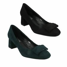 f9954 Anne Michelle para mujer negros azul verde tacón medio de bloque
