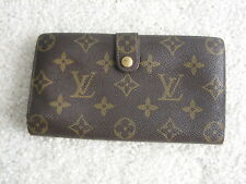 Louis Vuitton Monogram Vintage Used Kisslock Wallet Bifold Leather Framed USA