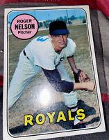 1969 Topps SET BREAK #279 Roger Nelson PSA 8 NM-MT Royals