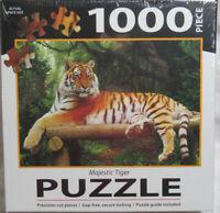 "1000 Piece Jigsaw Puzzle MAJESTIC TIGER in the jungle Big Cat 29"" x 20"""