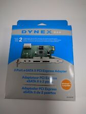 Dynex DX-ESATAP 2 Port eSATA-300 PCIe PCI II Express Adapter Card Controller