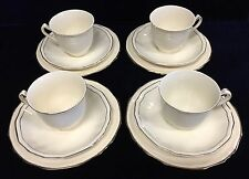 Vintage Alfred Meakin Cup and Saucer Sets with Gold Trim and 4 Cake Plates