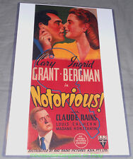 NOTORIOUS MOVIE POSTER 11x17 With Plastic Holder CARY GRANT INGRID BERGMAN