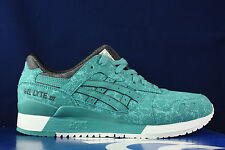 ASICS GEL LYTE III 3 KING FISHER GREEN AQUA BLUE BLACK H6U2Y 4848 SZ 12