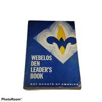 Boy Scout BSA Cub Webelos Den Leader 1967 Copyright Handbook