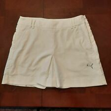 Puma Women's Athletic Skort Size 4 White Side Zip SN5