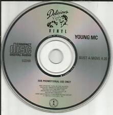 YOUNG MC Bust a Move ULTRA RARE 1989 PROMO Radio DJ CD single USA MINT CCD105