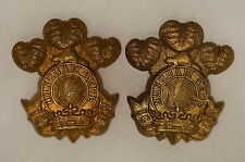 WW1 Canadian 14th Princess Of Wales Own Rifles Officers Collars Badges Pair 2