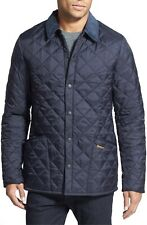 New Barbour Heritage Liddesdale Regular Fit Quilted Jacket navy Size Large RT $2