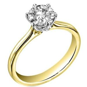 9ct Gold Ring 1.5ct Diamond Solitaire Fully UK Hallmarked Engagement Ring