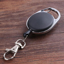 Carabiner Retractable Reel Belt Clip Pull Key Chain ID Card Badge Lobster Clasp