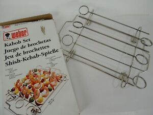 1996 Weber Kabob Set 1 Frame, 2 Skewer Holders, 6 Skewers