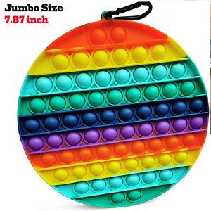 Rainbow Fidget Bubble Popper Toy Kids Adult Stress Relief Sensory Toy Jumbo Size