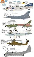 Wolfpak Decals 72-091 YGBSM F-4N LOCKHEED THUNDERCHIEF T-39 BOEING MC-130 JET
