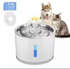 2.4L Automatic Pet Cat/ Dog Water Fountain Ultra Quiet USB Drinking Fountain