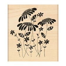 PENNY BLACK RUBBER STAMPS FLOWER AMONGST FLOWERS NEW wood STAMP