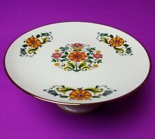 Kuba Porzellan Floral Porcelain Pedestal Cake Plate Serving Dish Bavaria Germany