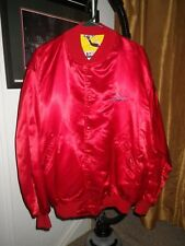 NOS & Vintage 1980s RED  Ford Motorsport Racing Silk-Look XL  lined Jacket !