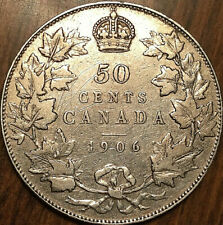 1906 CANADA SILVER 50 CENTS - Excellent example!