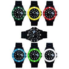 Uhr Armbanduhr Damenuhr Herrenuhr Schwarz Silikon Gummi Silikonuhr Gummiuhr