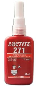 LOCTITE 271 HIGH STRENGTH - THREADLOCK ADHESIVE - GLUE 50 ML - Free Shipping!
