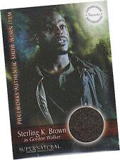 Supernatural Season 3: PW-3 Sterling K Brown - Gordon T-Shirt Pieceworks Card