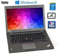 """Lenovo ThinkPad T450 Core i5 5300u 2.3Ghz 8GB RAM 240GB SSD 14"""" FullHD IPS Displ"""